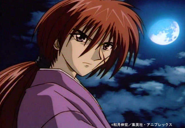 kenshin himura red haired male anime characters