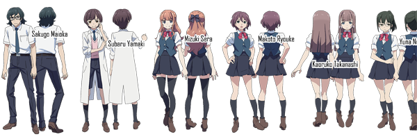 Classroom Crisis anime characters