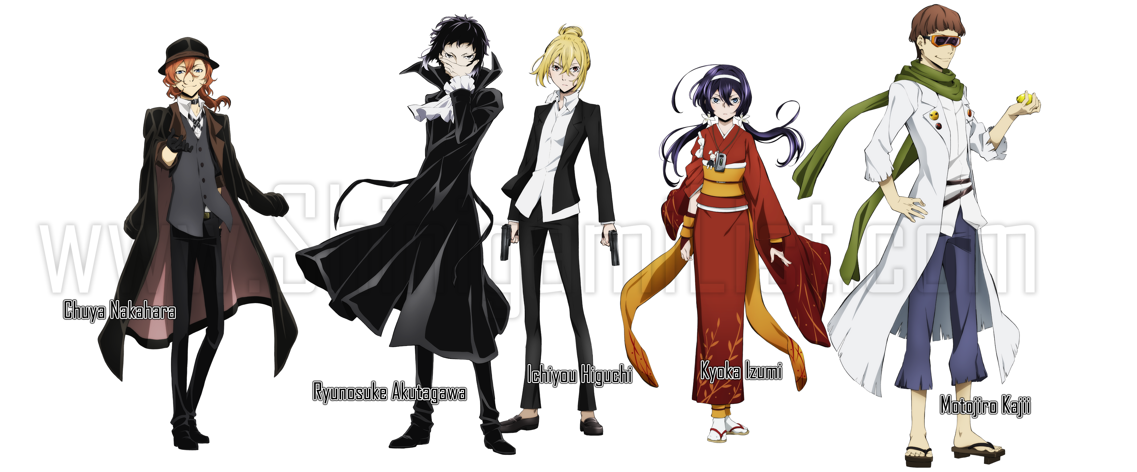 Bungou Stray Dogs Bungou-stray-dogs-port-mafia-characters